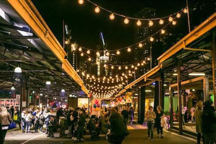 Winter Night Market at Queen Victoria Market